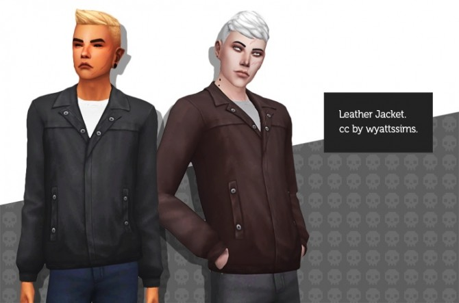 LEATHER JACKET at Wyatts Sims image 9716 670x443 Sims 4 Updates