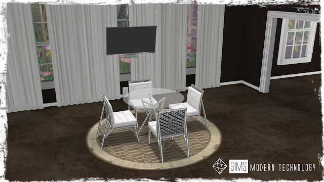 MG24 4Sims Round Glass Table & Chair 3T4 Conversion at Sims Modern Technology image 9717 Sims 4 Updates
