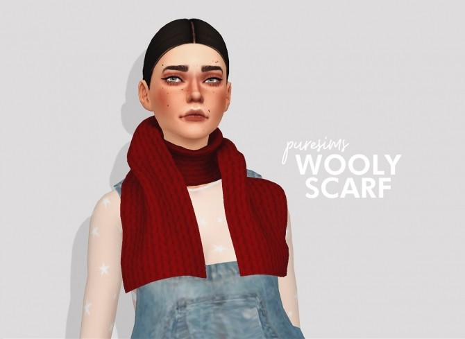 Sims 4 Wooly scarf at Puresims
