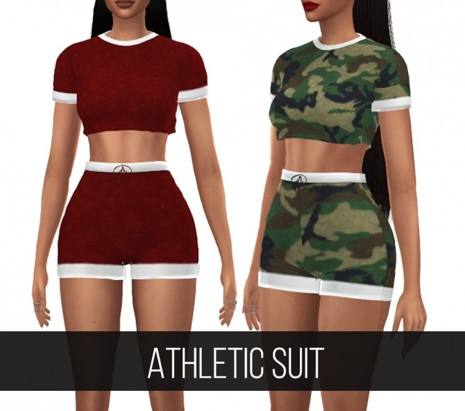 Sims 4 ATHLETIC SUIT at FifthsCreations