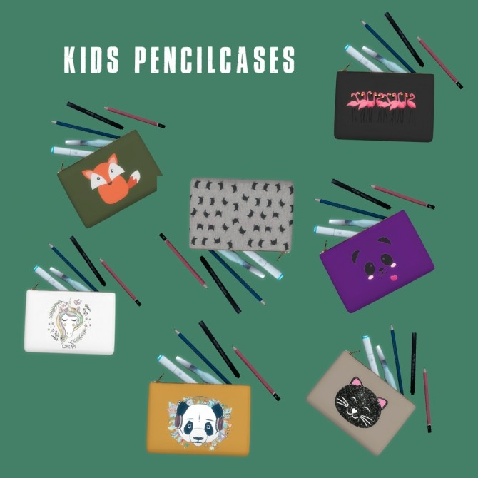 Sims 4 Kids Pencilcases at Leo Sims