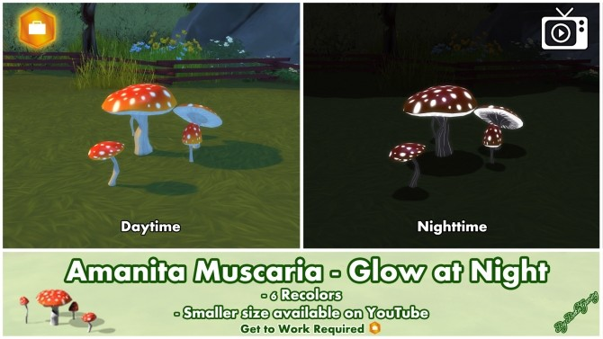 Amanita Muscaria Glow at Night by Bakie at Mod The Sims image 999 670x377 Sims 4 Updates
