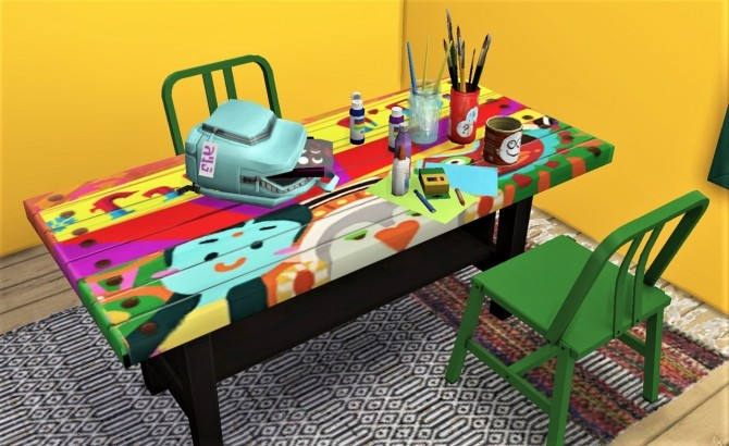 BG table 6 recolors at Budgie2budgie image 1001 670x410 Sims 4 Updates