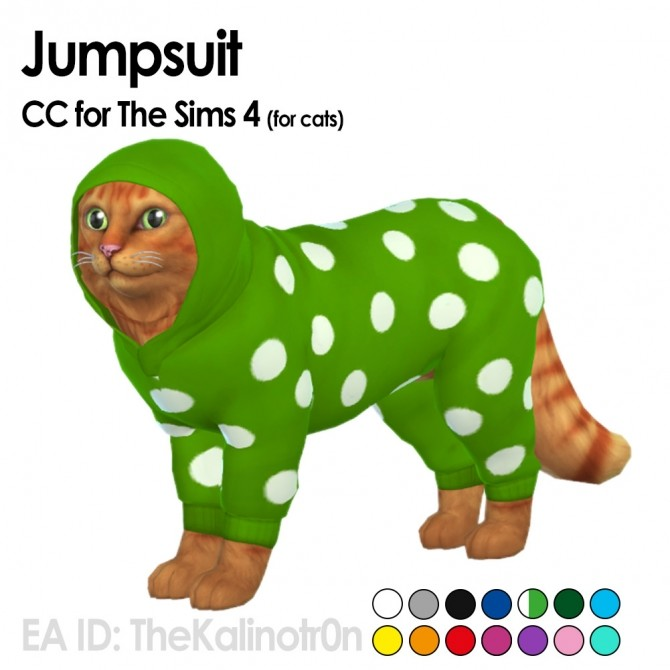 Sims 4 Jacket, raincoat and jumpsuit for pets at Kalino