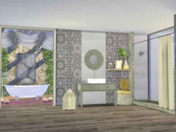 Giorno Bathroom by Nikadema at TSR image 10102 Sims 4 Updates