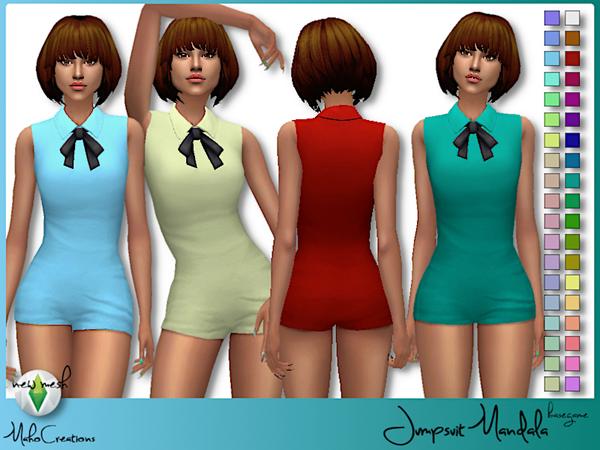 Jumpsuit Mandala by MahoCreations at TSR image 10104 Sims 4 Updates