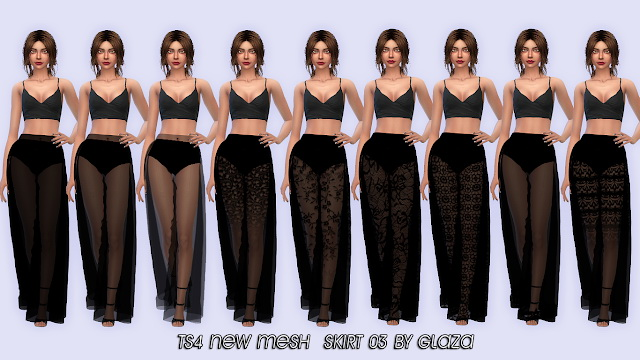 Sims 4 Skirt 03 at All by Glaza