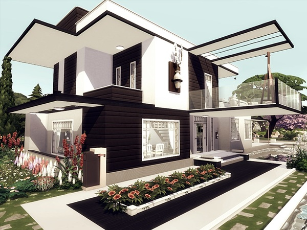 Dalia modern home by marychabb at TSR image 1027 Sims 4 Updates
