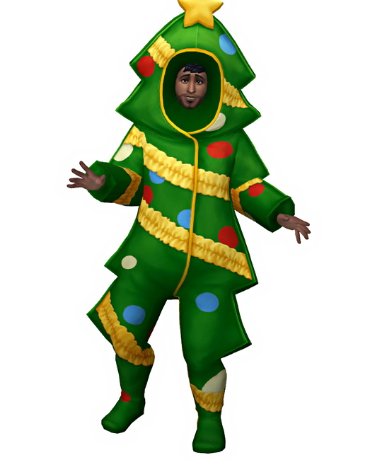Sims 4 Christmas Tree Costume at W Sims