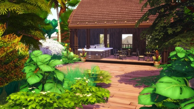 Sims 4 Golden Sea Beach Resort at Akai Sims – kaibellvert