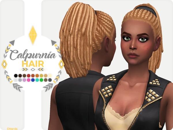 Sims 4 Calpurnia Hair by Nords at TSR