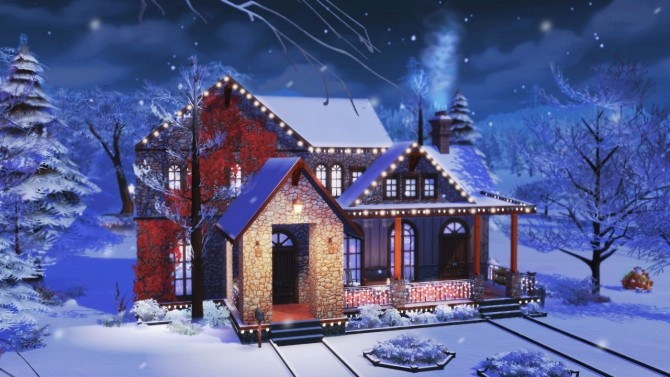 Merry Xmas in July! base game home at BERESIMS image 1065 670x377 Sims 4 Updates