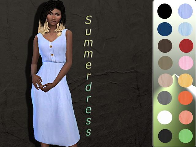 Sims 4 Summer Dress 2 at Teenageeaglerunner