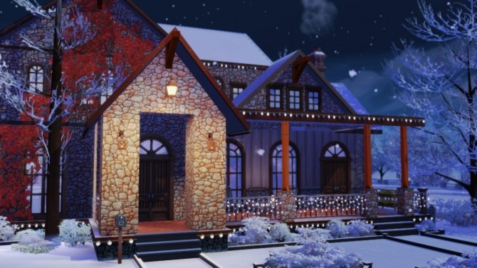 Merry Xmas in July! base game home at BERESIMS image 1075 670x377 Sims 4 Updates