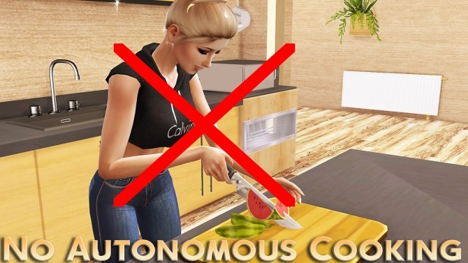 Sims 4 No Autonomous Cooking at MSQ Sims