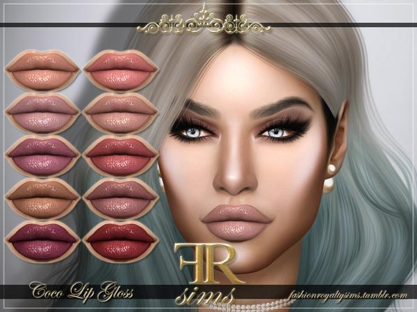 Sims 4 FRS Coco Lip Gloss by FashionRoyaltySims at TSR