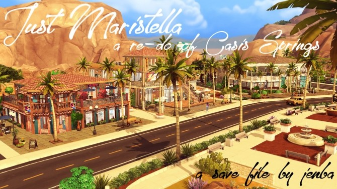 Just Maristella (Save File) Oasis Springs redone at Jenba Sims image 1083 670x377 Sims 4 Updates