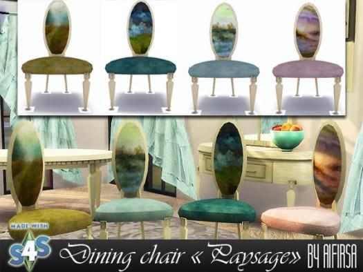Sims 4 Paysage Dining chair at Aifirsa