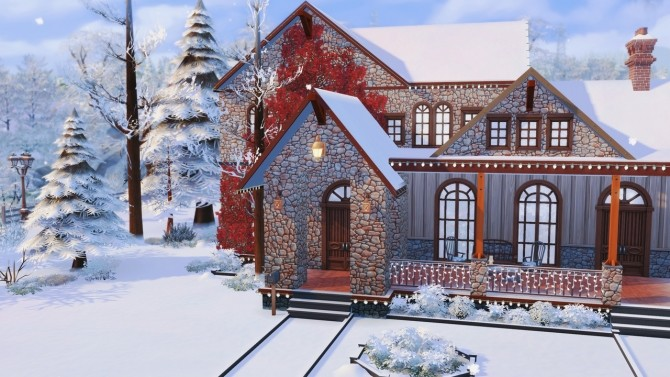 Merry Xmas in July! base game home at BERESIMS image 1095 670x377 Sims 4 Updates