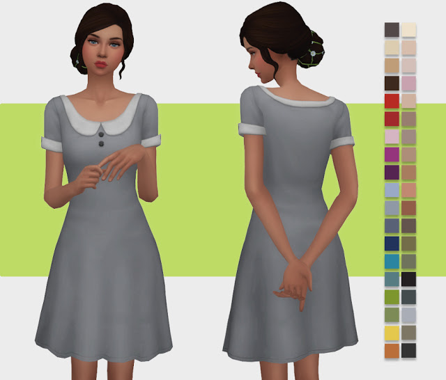 Collared T Shirt Dress at Simlish Designs image 1104 Sims 4 Updates