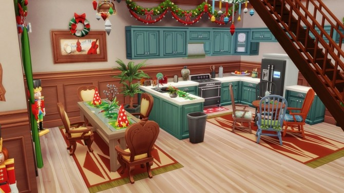Merry Xmas in July! base game home at BERESIMS image 1105 670x377 Sims 4 Updates