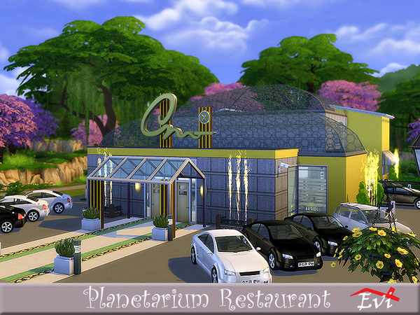 Planetarium Restaurant by evi at TSR image 1114 Sims 4 Updates