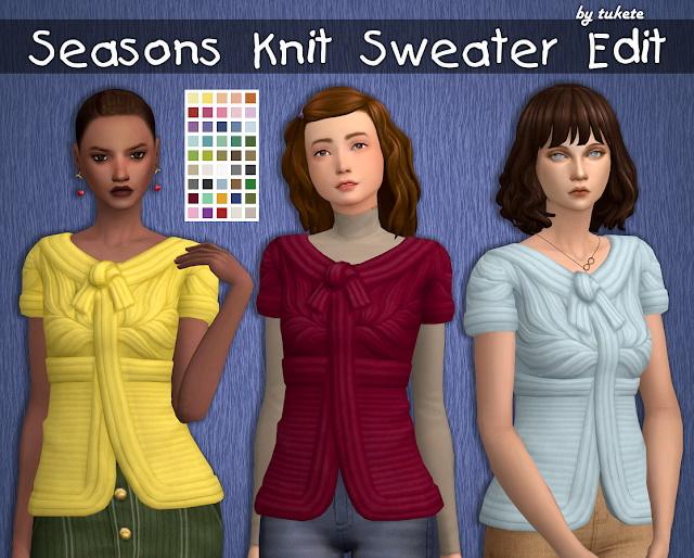 Seasons Knit Sweater Edit at Tukete image 1115 Sims 4 Updates