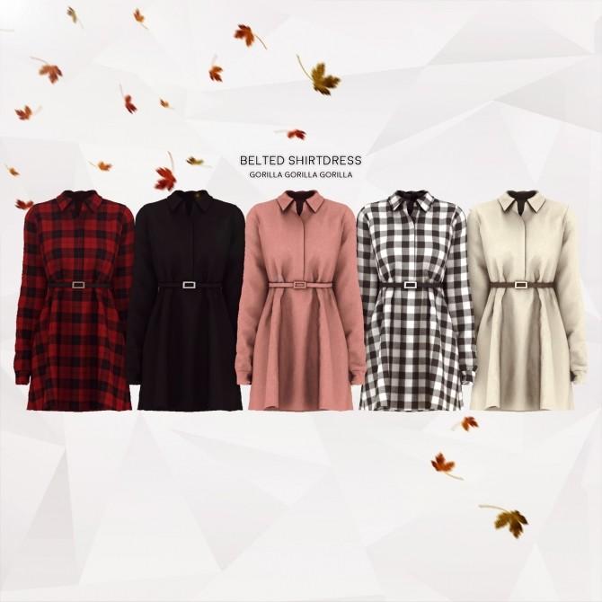 Belted Shirtdress at Gorilla image 1123 670x670 Sims 4 Updates