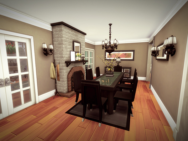 Oakwood house NO CC by melcastro91 at TSR image 1130 Sims 4 Updates