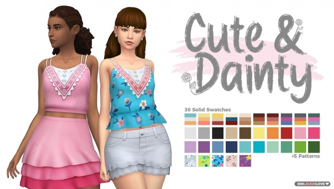 Sims 4 Cute & Dainty Tank Tops at SimLaughLove