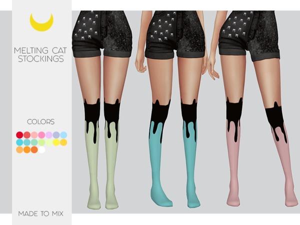 Sims 4 Melting Cat Stockings by Kalewa a at TSR