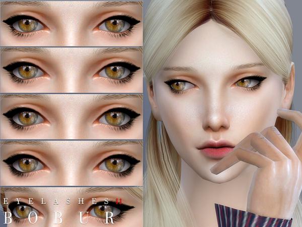 Sims 4 Eyelashes 11 by Bobur3 at TSR