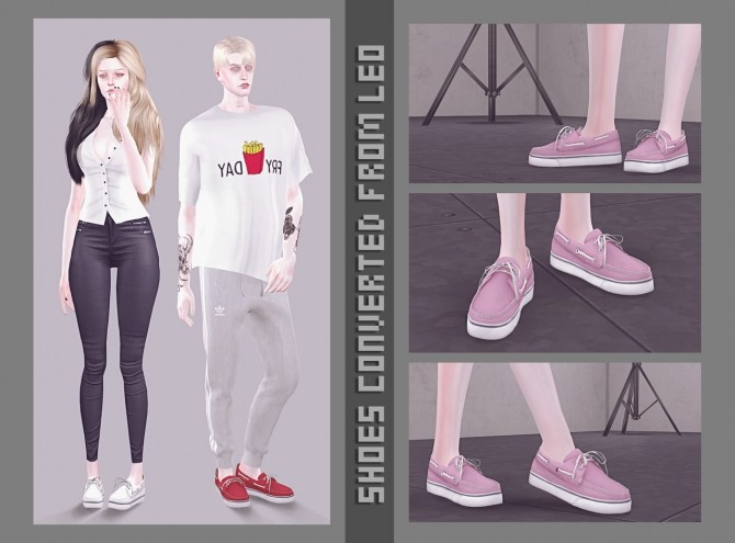 Sims 4 Converted shoes from Leo 5 at Magic bot