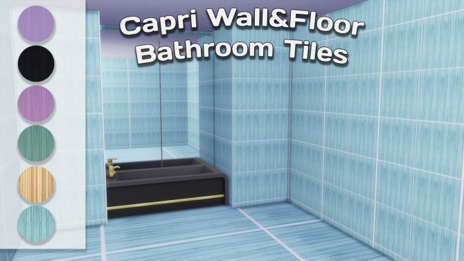 Capri Wall & Floor Bathroom Tiles at Simming With Mary image 1163 670x377 Sims 4 Updates