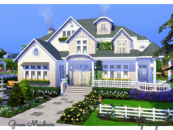 Sims 4 Grace Meadows house by Degera at TSR
