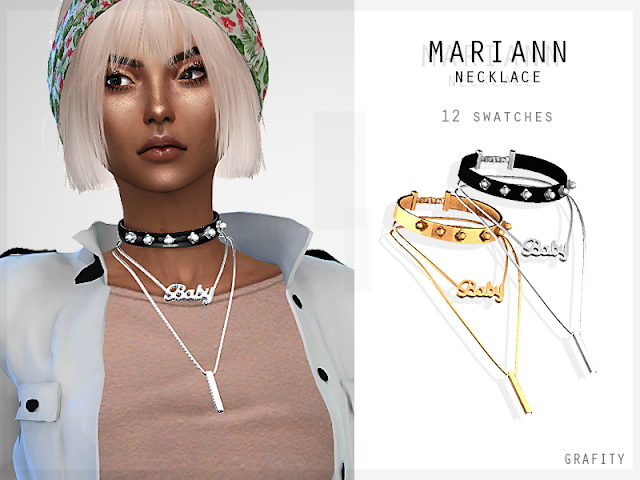 Sims 4 MARIANN NECKLACE at Grafity cc