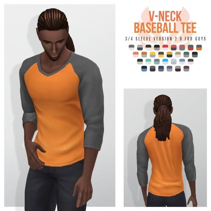 Sims 4 Baseball Vs Short, 3/4, and Long Sleeve Tees at Simsational Designs