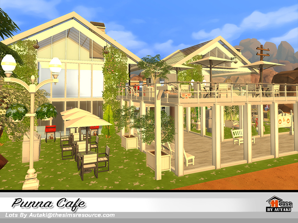 Sims 4 Punna Cafe by autaki at TSR
