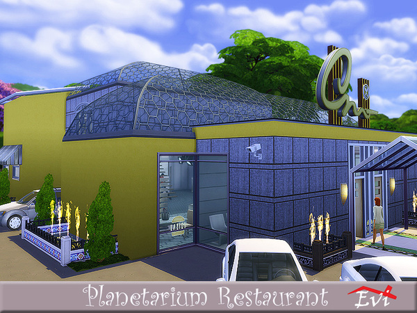 Planetarium Restaurant by evi at TSR image 1213 Sims 4 Updates