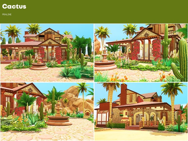 Sims 4 Cactus house by Pralinesims at TSR