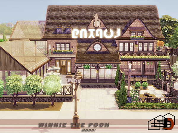 Winnie the Pooh house by Danuta720 at TSR image 1216 Sims 4 Updates