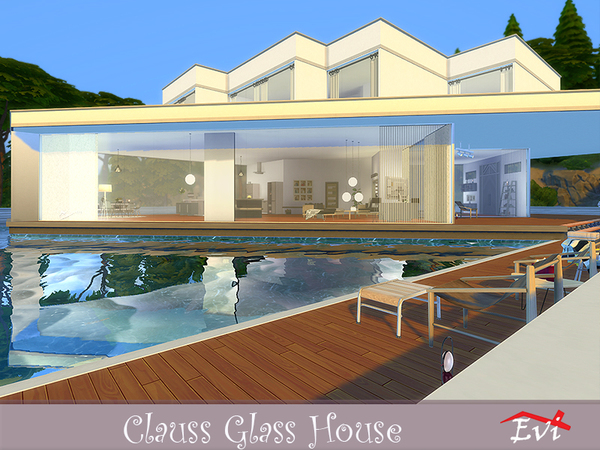 Sims 4 Clauss Glasshouse by evi at TSR