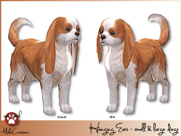 Sims 4 Hanging Ears Dogs by MahoCreations at TSR