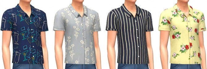 Sims 4 Printed Shirts at Marvin Sims