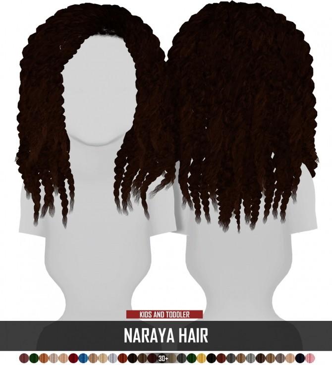 Sims 4 NARAYA HAIR KIDS AND TODDLER VERSION by Thiago Mitchell at REDHEADSIMS
