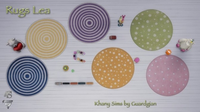 Sims 4 LEA rugs for nursery by Guardgian at Khany Sims