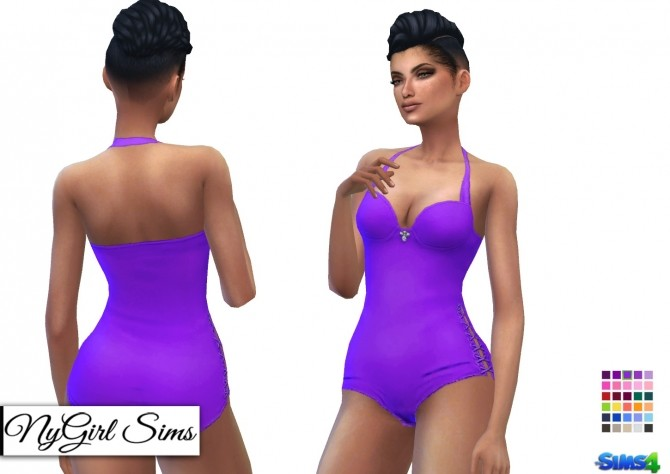Side Tie Swimsuit with Jewel at NyGirl Sims image 1273 670x474 Sims 4 Updates