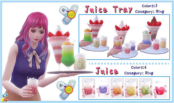 Juice Tray set at A luckyday image 1276 Sims 4 Updates