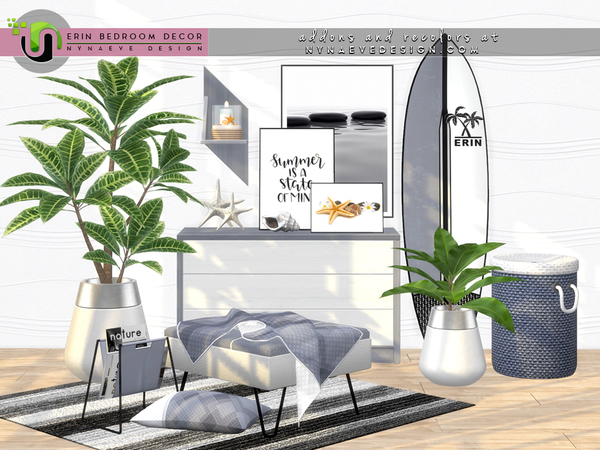 Erin Bedroom Decor by NynaeveDesign at TSR image 1279 Sims 4 Updates