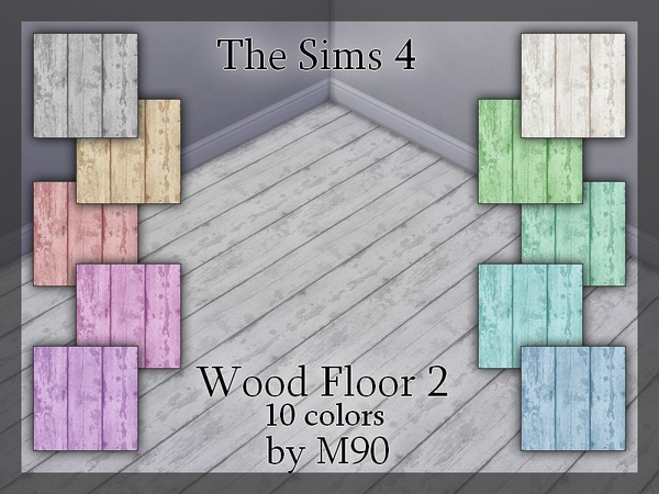 Sims 4 M90 Wood Floor 2 by Mircia90 at TSR